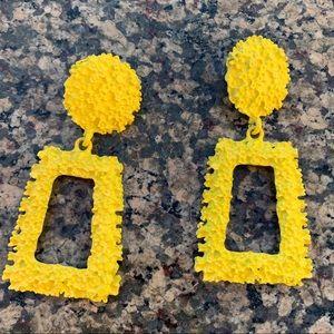 Bright yellow geometric Earrings